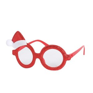 Óculos com Gorro Papai Noel Vermelho - 01 unidade - Cromus Natal - Rizzo Embalagens
