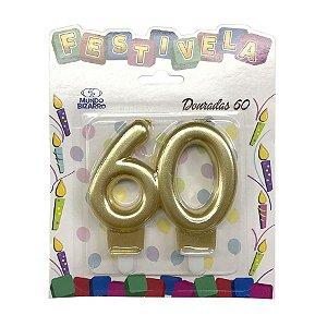 Vela 60 anos Dourada - Mundo Bizarro
