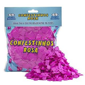 Lança Confete Confestinhos Rosa - 120g - Mundo Bizarro