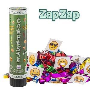 Lança Confete Confeste Kids Adesivos Zap-Zap - 21 cm - Mundo Bizarro