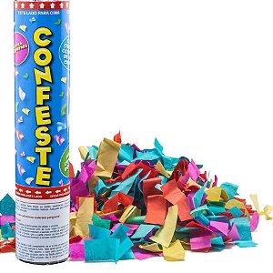 Lança Confete Confeste Crepom Colorido - 20 cm -  Mundo Bizarro