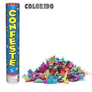 Lança Confete Confeste Crepom Colorido - 30 cm -  Mundo Bizarro