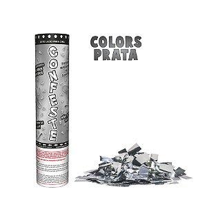 Lança Confete Confeste Laminado Colors Prata- 20 cm -  Mundo Bizarro