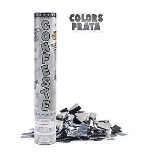 Lança Confete Confeste Laminado Colors Prata- 30 cm - Mundo Bizarro