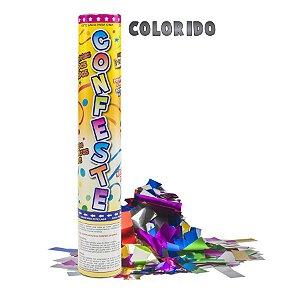 Lança Confete Confeste Laminado Colors Colorido- 30 cm - Mundo Bizarro