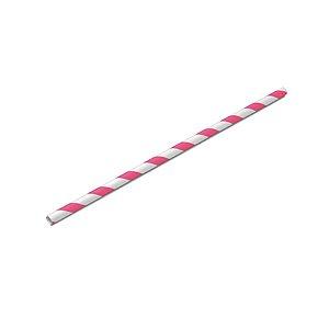 Canudo Biodegradável Listrado Branco e Pink - 20 un -  Silver Festas