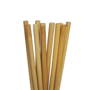 Canudo Ecologico em Bambu - 20 un -  Silver Festas
