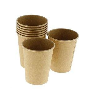 Copo de papel kraft Biodegradável - 40 un - 266 ml - Silver Festas