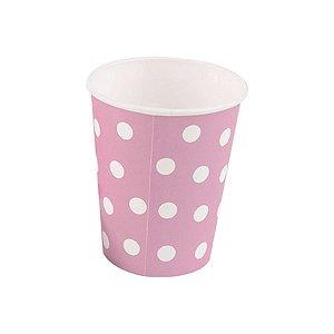 Copo papel Poa Rosa Bebe Biodegradável - 10 un - 270 ml - Silver Festas
