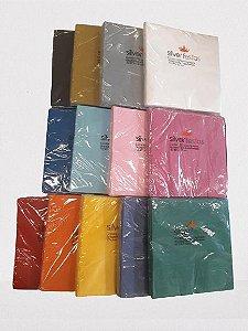 Guardanapo Liso folha dupla - 20 un - 32x32 cm cm - Silver Festas