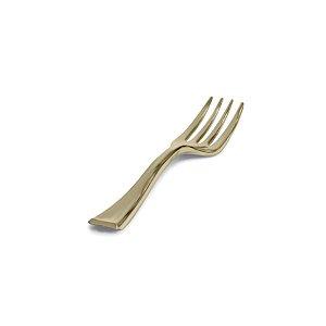 Mini Garfo Premium Dourada - 20 un  - Silver Festas
