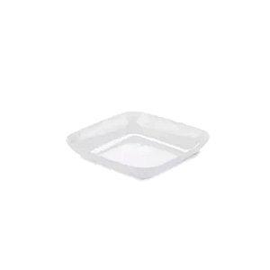 Mini Prato Boleado Branco - 12 un  - 6 cm - Silver Festas