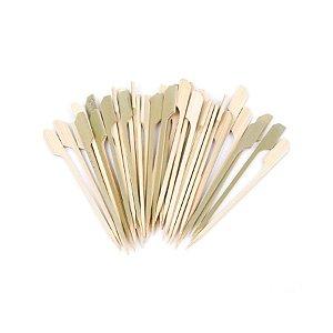 Palito em Bambu p/ petiscos  - 50 un -  9 cm - Ref. HA244 Silver Festas