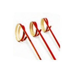 Palito em Bambu p/ petiscos Vermelho - 20 un - 12 cm - Ref.HA224 - Silver Festas