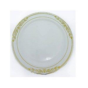 Prato Refeição Vintage Dourado   - 6 un - Silver Festas