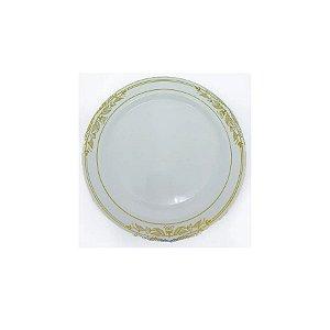 Prato Sobremesa Vintage Dourado  - 6 un - Silver Festas