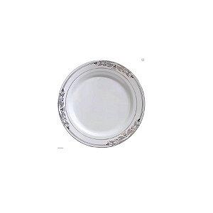 Prato Sobremesa Vintage Prata  - 6 un - 19 cm - Silver Festas