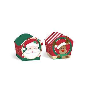 Forminha para Doces Composê Noite Feliz - 24 unidades - Cromus Natal - Rizzo Embalagens