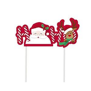 Topo de Bolo Noite Feliz - 01 unidade - Cromus Natal - Rizzo Embalagens