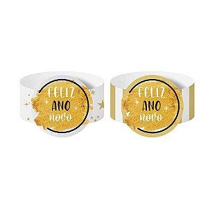 Porta Guardanapo de Papel Feliz Ano Novo - 06 unidades - Cromus Reveillon - Rizzo Embalagens