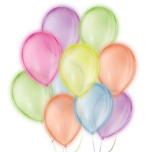 Balão de Festa Neon - Sortido - 25 Unidades - São Roque - Rizzo Embalagens
