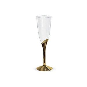 Taça para Champagne Base Dourada - 6 un - 135 ml - Silver Festas