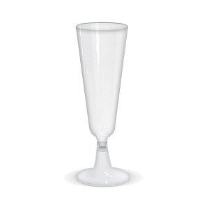 Taça para Champagne Transparente - 6 un - 150 ml - Silver Festas