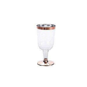 Taça para Vinho Rose - 4 un - 210 ml - Silver Festas