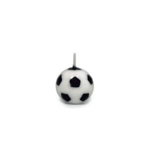 Velas Bola de Futebol - 6 un - Silver Festas