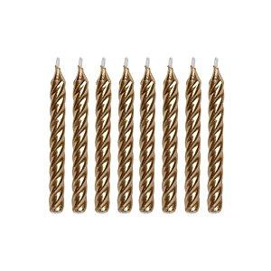 Velas Espiral Dourada - 8 un - Silver Festas