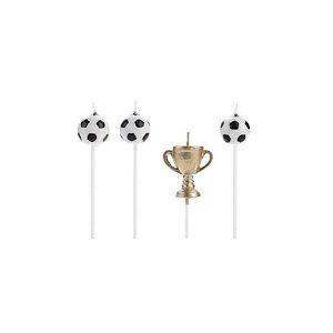 Velas Taça de Futebol Dourada - 4 un - Silver Festas