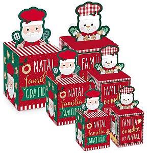 Caixa Panetone Pop Up Chef Composê - 10 unidades - Cromus Natal - Rizzo Embalagens