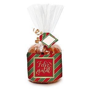 Kit Panetone 500g Natal Clássico - 10 unidades - Cromus Natal - Rizzo Embalagens e Festas
