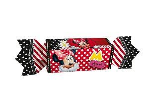 Caixa Pequena Bala Festa Minnie - 22,5x3,7cm - 08 unidades - Regina - Rizzo Embalagens