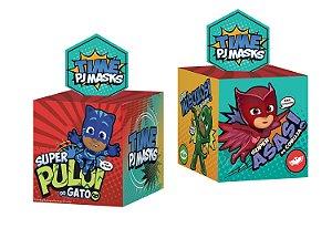 Caixa Surpresa Cubo Festa PJ Masks - 08 unidades - Regina - Rizzo Festas