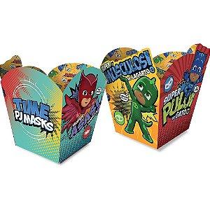 Cachepot Pequeno Cubo Festa PJ Masks - 08 unidades - Regina - Rizzo Festas
