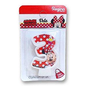 Vela Festa Minnie Número 3- 01 unidade - Regina - Rizzo Festas
