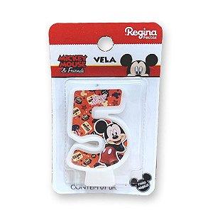Vela Festa Mickey Número 5 - 01 unidade - Regina - Rizzo Festas