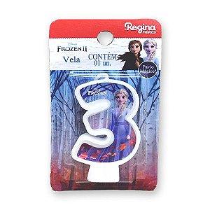 Vela Festa Frozen Número 3 - 01 unidade - Regina - Rizzo Festas