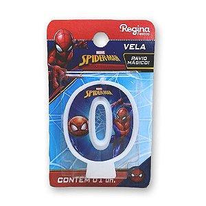 Vela Festa Spider Man Número 0 - 01 unidade - Regina - Rizzo Festas