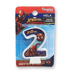 Vela Festa Spider Man Número 2 - 01 unidade - Regina - Rizzo Festas
