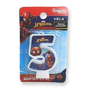 Vela Festa Spider Man Número 5 - 01 unidade - Regina - Rizzo Festas