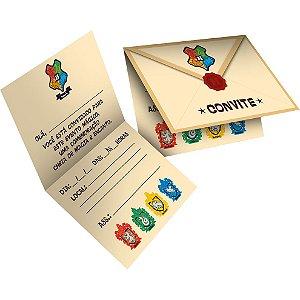 Convite Festa Harry Potter Kids - 8 unidades - Festcolor - Rizzo Festas