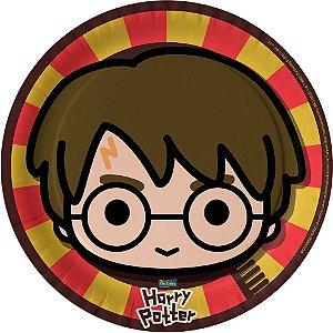 Prato Festa Harry Potter Kids 18cm - 8 unidades - Festcolor - Rizzo Festas