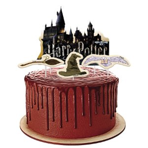 Topper para Bolo Festa Harry Potter - 04 unidades - Festcolor - Rizzo Festas