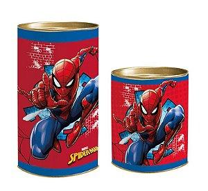 Lata para Lembrancinhas Spider Man - 01 unidade - Cromus - Rizzo Embalagens