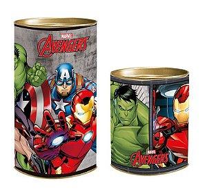 Lata para Lembrancinhas Avengers - 01 unidade - Cromus - Rizzo Embalagens
