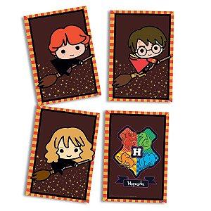 Quadros Decorativos Festa Harry Potter Kids - 04 Itens - Festcolor - Rizzo Festas