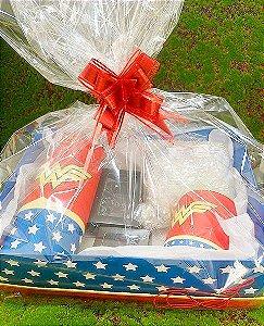 Kit Dia das Crianças Mulher Maravilha - 01 unidade  - Cromus - Rizzo Embalagens