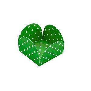 Forminhas para Doces 4 Pétalas Poá Verde Bandeira e Branco - 50 unidades - NC Toys - Rizzo Embalagens